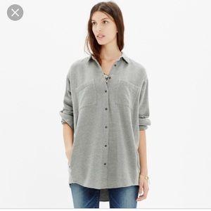 Madewell Sunday flannel gray